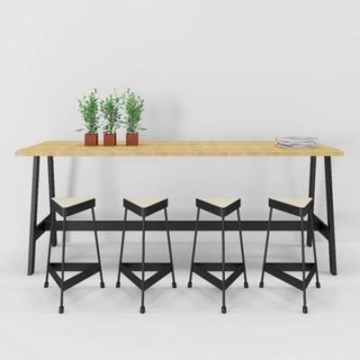 现代椅, 现代吧台, 吧台, loft, 现代简约, 椅子, 下得乐3888套模型合辑