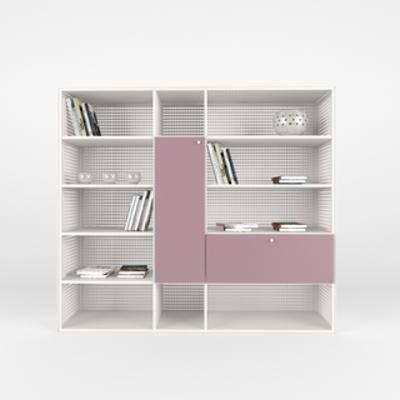 现代置物柜, 置物柜, 现代书柜, 书柜, 现代简约