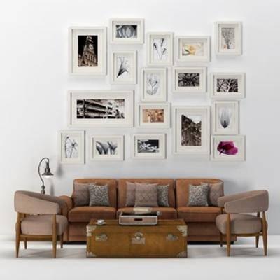 现代沙发, 沙发茶几组合, 现代简约, 现代茶几, 现代