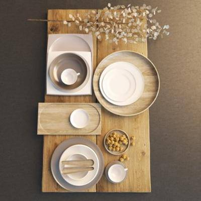 北欧厨具, 北欧陈设品, 北欧简约, 陈设品, 厨具, 下得乐3888套模型合辑