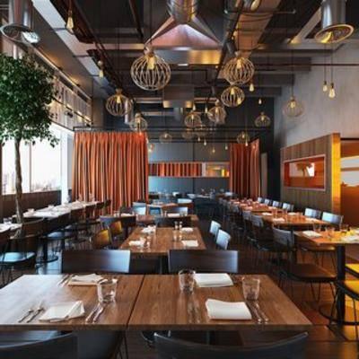 餐具, 陈设品, 现代餐厅, 现代千亿国际app 娱乐网站, 桌椅组合, 吊灯