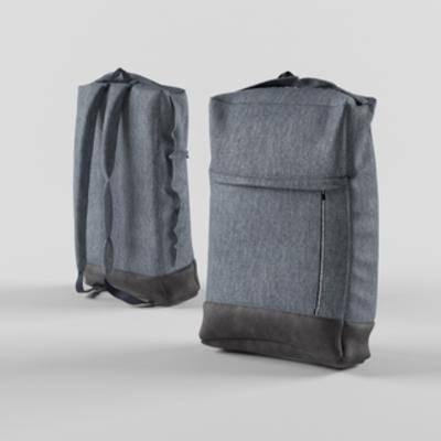 现代简约, 背包, 布艺背包