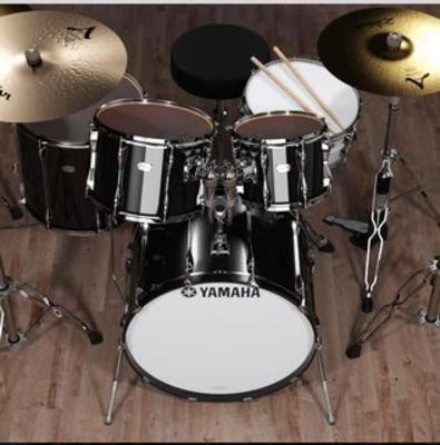鼓, 架子鼓乐器, 乐器, 音乐, 组合, 设备, 套装
