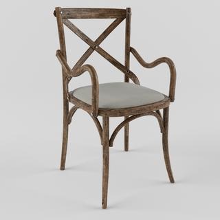 美式田园单人椅