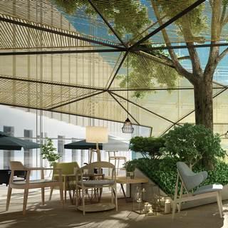 现代露天咖啡厅