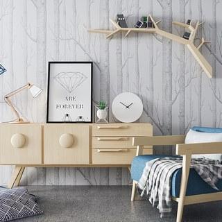 北欧简约单人沙发边柜陈设品组合