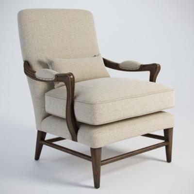 美式简约, 美式沙发, 单人沙发, 沙发