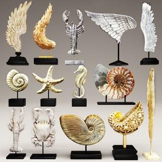 现代,雕塑,陈设品组合,现代雕塑