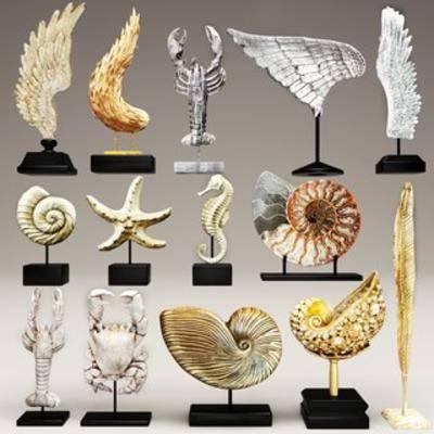 现代雕塑, 陈设品组合, 雕塑, 现代