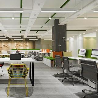 桌椅组合,现代简约,电脑,现代办公室