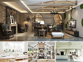 美式客厅,模型合集