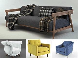 美式沙发,模型合集