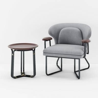 边几组合, 北欧边几, 北欧简约, 单人椅