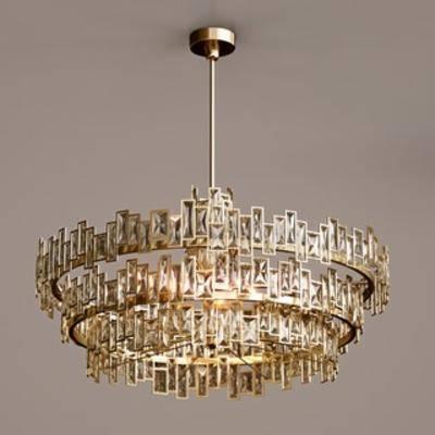 金属吊灯, 灯饰, 吊灯, 后现代