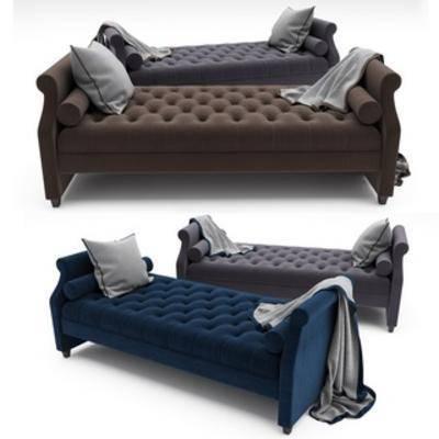 欧式凳, 欧式床尾凳, 欧式简约, 床尾凳
