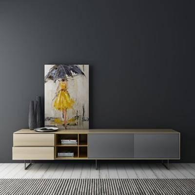 原创模型, 柜, 电视柜, 现代简约, 原创