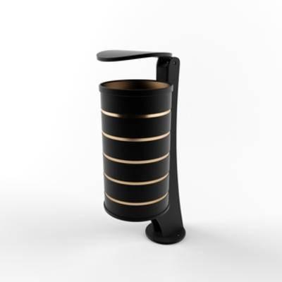 现代垃圾桶, 垃圾桶, 现代简约, 公共设施, 模型