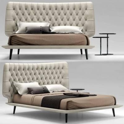 雙人床, 現代床, 現代簡約, 床