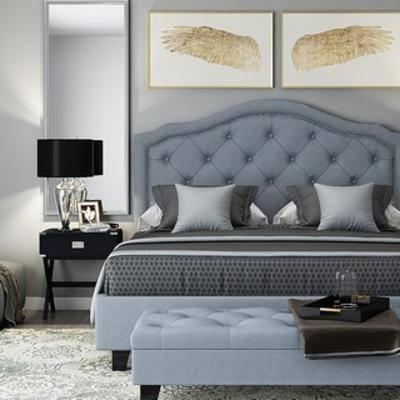 现代简约, 现代台灯, 床具组合, 现代装饰画, 下得乐3888套模型合辑