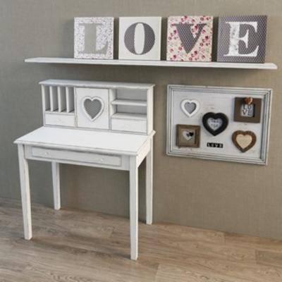 美式装饰画, 装饰画组合, 美式简约, 美式桌子, 桌子