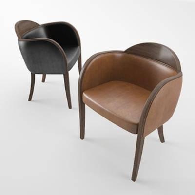 单人椅, 现代椅子, 现代简约