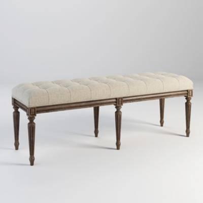 美式凳, 美式简约, 床尾凳