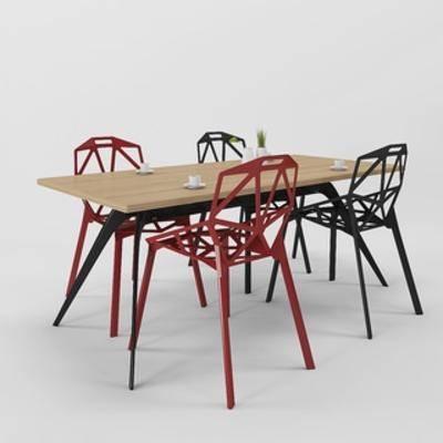 桌椅组合, 北欧椅子, 北欧桌子, 北欧简约, 北欧, 下得乐3888套模型合辑