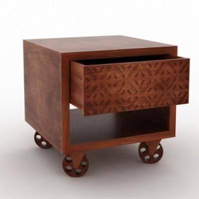 现代床头柜, 柜, 床头柜, 现代简约