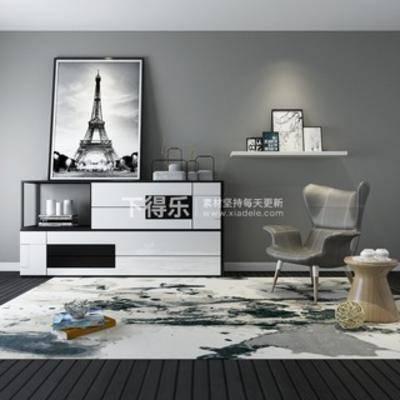 边柜, 北欧千亿国际app|娱乐网站, 单椅, 陈设品组合, 北欧挂画