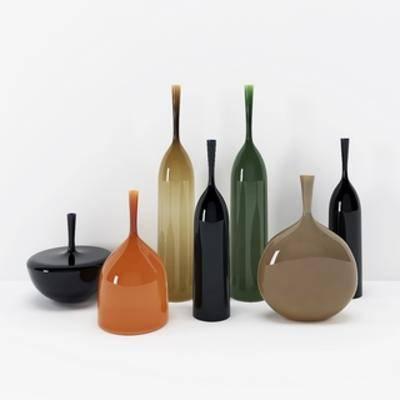 现代瓶子, 陈设品组合, 现代简约, 下得乐3888套模型合辑