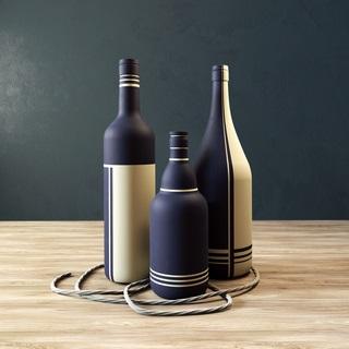 现代酒瓶陈设品