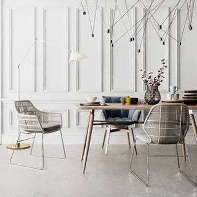 吊灯, 桌椅组合, 北欧桌椅, 北欧简约, 北欧
