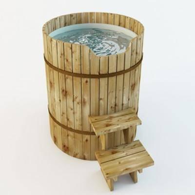 洗浴盆, 木桶浴缸, 洁具
