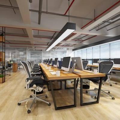 吊灯, 桌椅组合, 现代椅子, 电脑, 现代办公室, 扮家家-积分兑换300套模型【三】