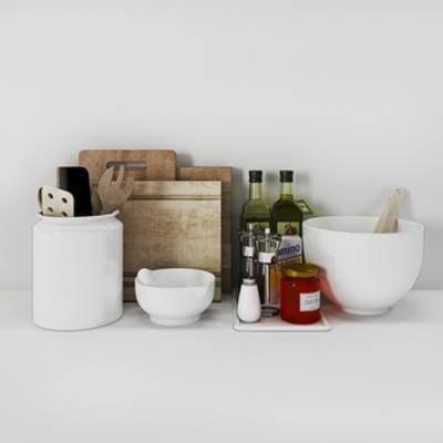 现代餐具, 餐具, 组合, 现代简约, 下得乐3888套模型合辑