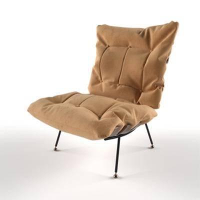 现代简约, 单人沙发, 沙发, 现代沙发
