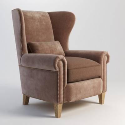 美式沙发, 美式, 现代, 单人沙发, 沙发, 现代沙发