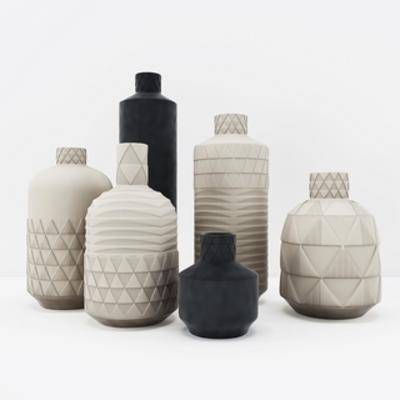 现代陈设品, 现代花瓶, 陈设品组合, 花瓶, 现代, 下得乐3888套模型合辑