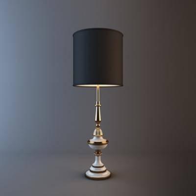 欧式台灯, 灯, 现代台灯, 现代, 台灯, 欧式