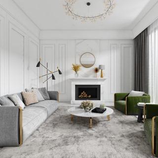 沙发茶几,落地灯,单人沙发,现代简约,欧简客厅