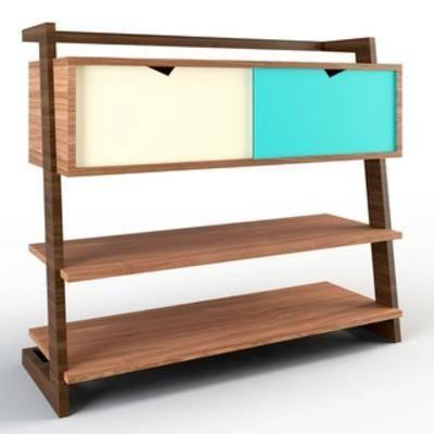 现代装饰柜, 现代边柜, 边柜, 现代简约, 装饰柜, 扮家家-积分兑换300套模型【一】