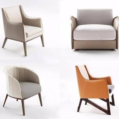 现代布艺椅子, 单人椅, 布艺, 现代椅子, 现代简约