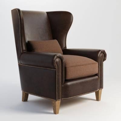 美式沙发, 美式, 现代, 单人沙发, 沙发
