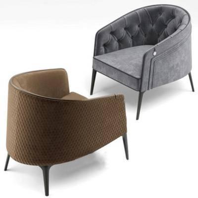 布艺, 休闲沙发, 现代简约, 单人沙发, 现代沙发