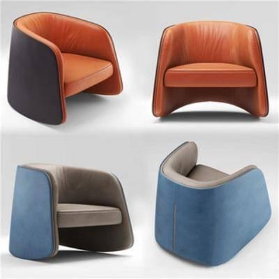 皮艺沙发, 皮艺, 现代简约, 单人沙发, 沙发