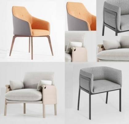 北欧简约, 单人椅, 北欧椅子, 椅子