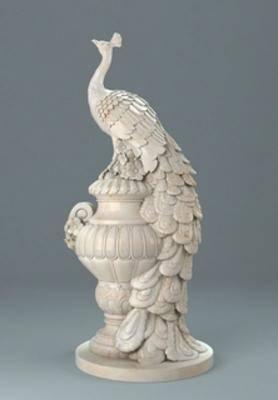 雕塑, 陈设品, 孔雀, 现代, 扮家家-积分兑换300套模型【一】
