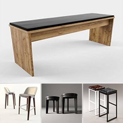 模型合集, 凳子, 现代简约