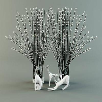 摆件, 陈设品, 花瓶, 饰品, 现代, 扮家家-积分兑换300套模型【一】