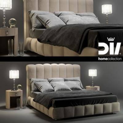 美式简约, 双人床, 美式床, 床